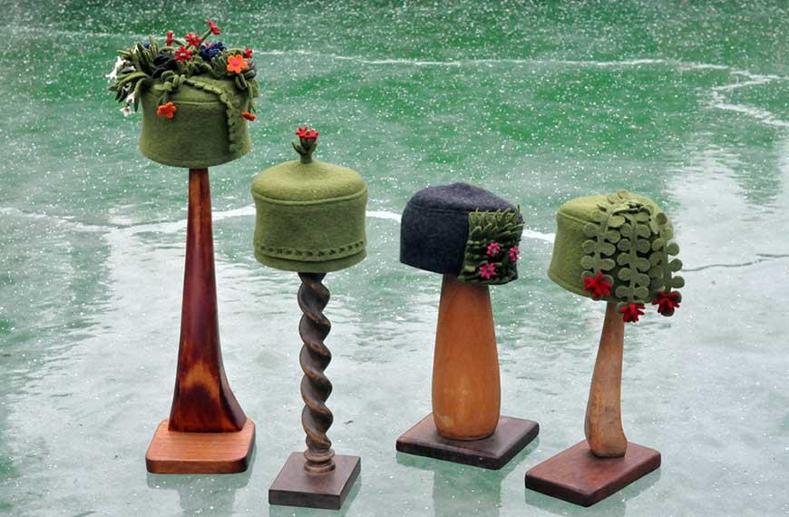 Walkloden-Hüte von Gabi Stellmach