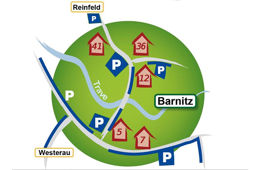 Aktuell: Parkplätze zum KunstHandfest in Barnitz