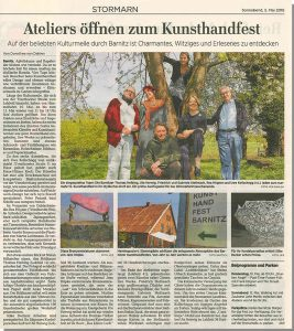 Pressebericht KunstHandFest Barnitz 2018